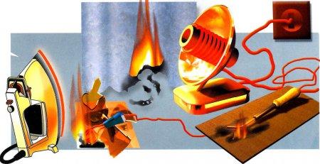 Причиной пожара могут быть электробытовые приборы